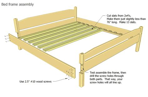 king size bed frame plans platform furnitureplans
