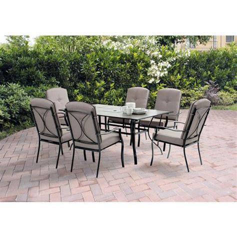 mainstays sonoma 7 patio dining set seats 6
