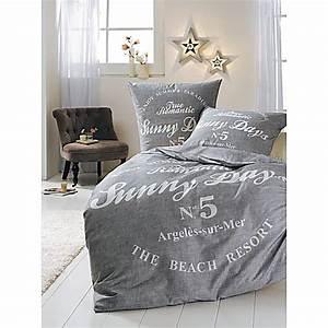 Graue Bettwäsche 135x200 : bettw sche sunny days grau wei 135x200 bestellen ~ Markanthonyermac.com Haus und Dekorationen