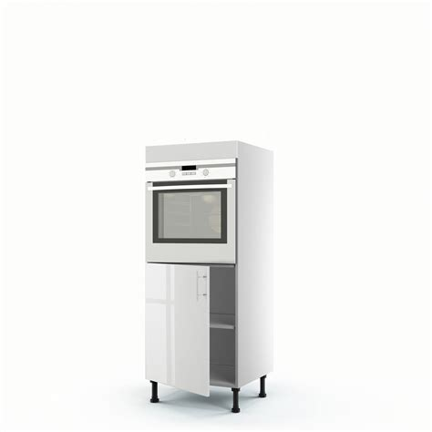 meuble de cuisine demi colonne blanc four 1 porte h 140 x l 60 x p 56 cm leroy merlin