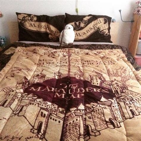 marauders map bedspread i need this so badly harry potter always bedspreads