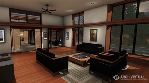 Forest Home Architectural Visualization Real Estate Simulation