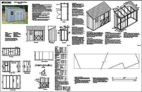 x10 slant lean to style shed plans see sles