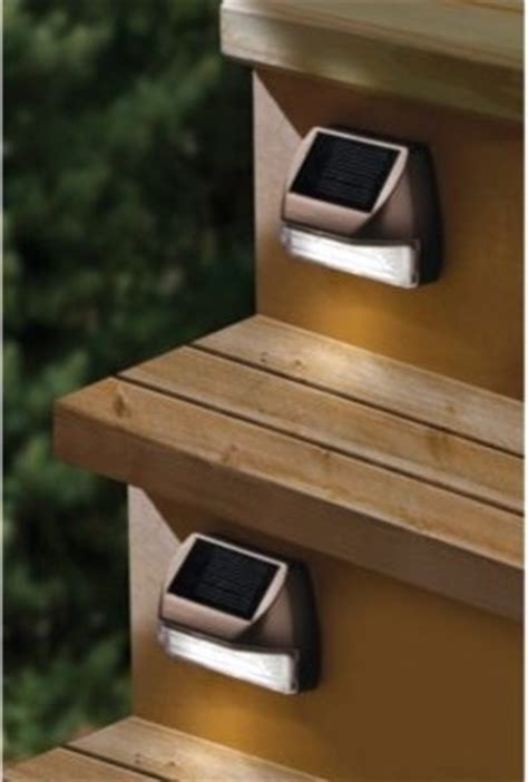 moonrays solar mini deck step light contemporary stair and step lights by bed bath beyond