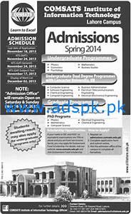 Admission 2014 for Graduate, Undergraduate, Dual Degree ...