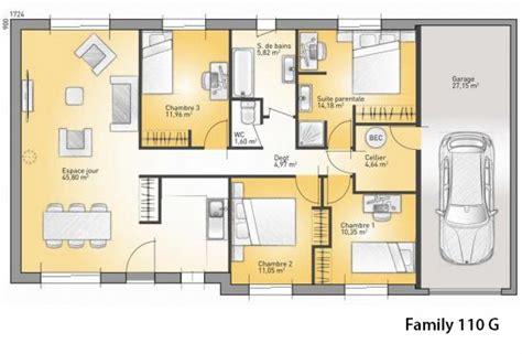 mod 232 le et plans family 110 g du constructeur maisons confort