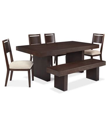garwood dining room furniture 6 set table 4 side chairs and bench furniture macy s