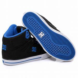 DC Shoes Spartan High Top Black Blue Mens Trainers ...