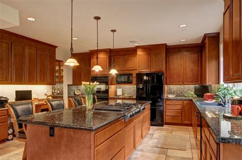 Kitchen With Island Stove Top  Contemporary  Kitchen