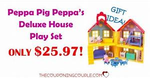 Peppa Pig Peppas Deluxe House Play Set ONLY $25.97!