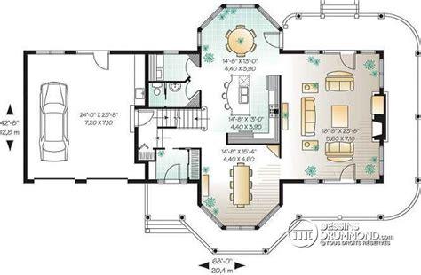 d 233 du plan de maison unifamiliale w3431