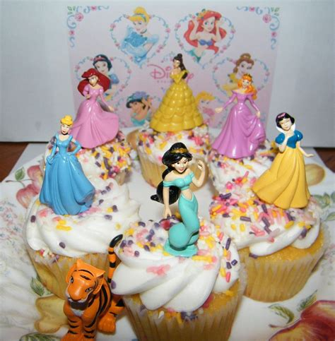 Cupcake Decorating Set disney princess cake toppers set of 7 with jasmine belle