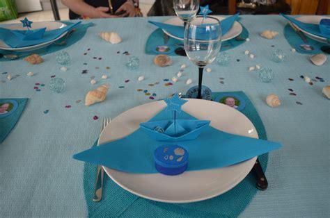 d 233 co de table th 232 me de la mer bateau en origami et servant de marque place bateau marque