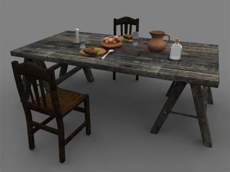 Medieval Dinner Picnic Table 3d Ma Play Formal Living Room Escape Game Walkthrough Shelf Ideas Bay Window Furniture Layout Design Kerala Music De John Cage Interior Livingroom Painting Mansion With Tv