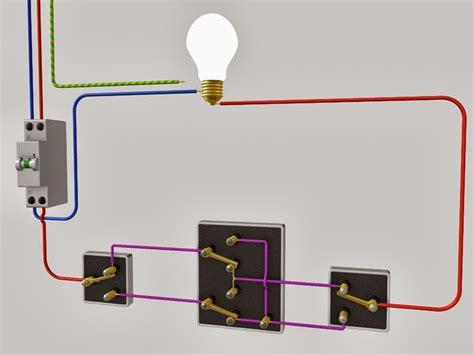 le raccordement de 3 interrupteurs va et vient schema electrique