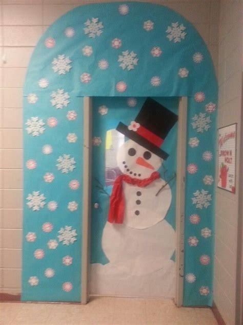 winter door decorating in kindergarten just b cause