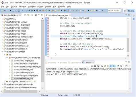 Mathceil Java Int by Java Math Method Exle