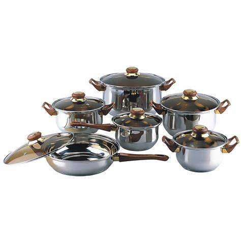 new 12 cookware set pots and pans kitchen home cooking free ship ebay