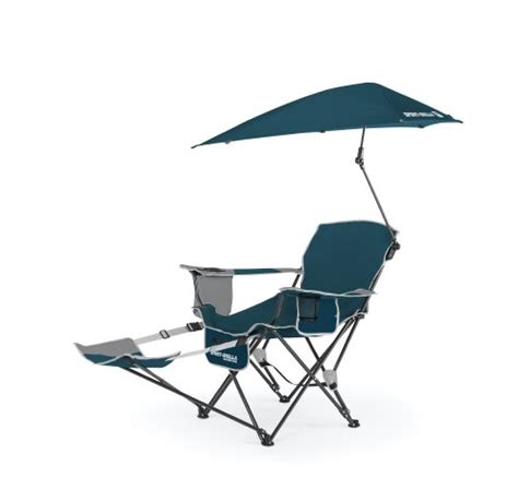 new blue sport brella recliner chair portable cing tailgating fishing ebay