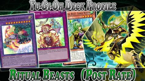 ritual beast deck profile post rate yugioh deck profile