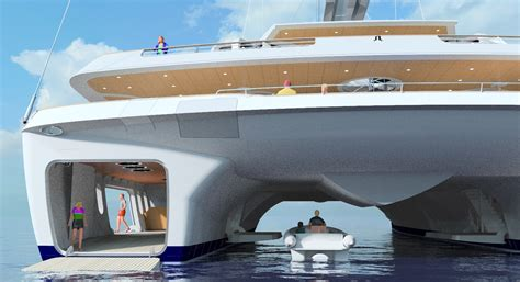 Huge Catamaran Yacht by World S Largest Sailing Catamaran Design To Be Presented