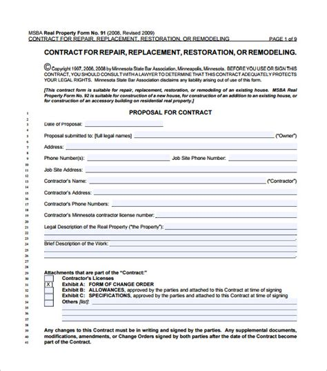 Home Remodeling Contract Template 7+ Free Word, Pdf. Phd Proposal Template. Ms Access Developer Resume Template. Questions To Ask In Interviews Template. Responsibilities Of Customer Service Template. Pay Stub Templates Picture. Sample Resignation Letter Of Teacher Template. Pizza Joes Monaca Pa Template. Blog Website Templates