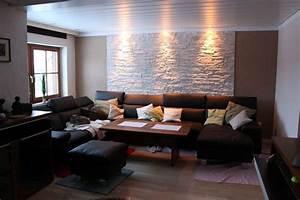 Wohnzimmer Ideen Bilder : steinwand selbst gemacht im wohnzimmer mit dundee weiss zimmer pinterest dundee wohnzimer ~ Markanthonyermac.com Haus und Dekorationen