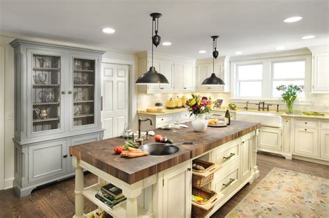 Bright Buffet Hutch In Kitchen Traditional With French