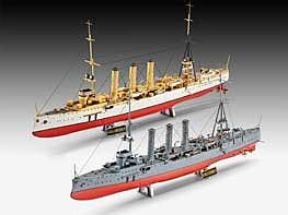Boat Tubes Academy by German Wwii Cruisers Sms Dresden Set Plastic Model