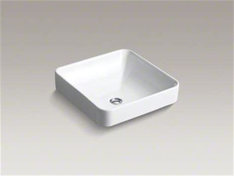 kohler vox square vessel sink bathroom sinks by kohler