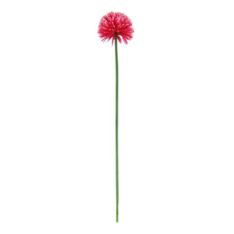 Single Xl Pompom Mum Flower  Artificial Silk Flowers Long Stemmed Fake Silk Ebay