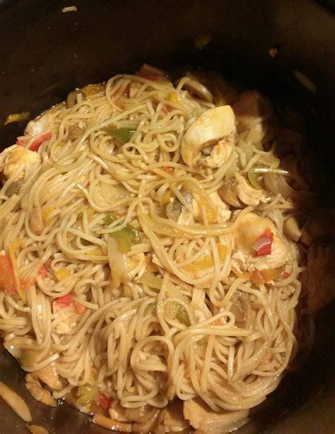 nouilles chinoises au poulet recettes cookeo