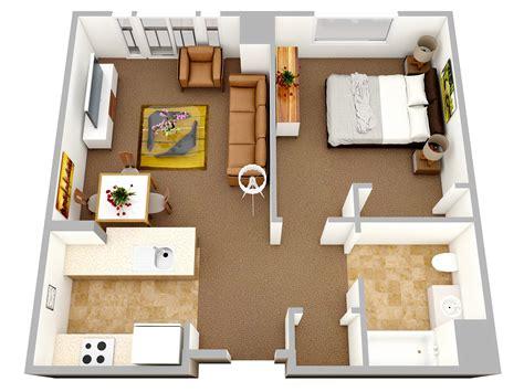 1 Bedroom Apartmenthouse Plans  Home Decorating Guru
