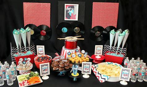 Creative Rock Star Birthday Party