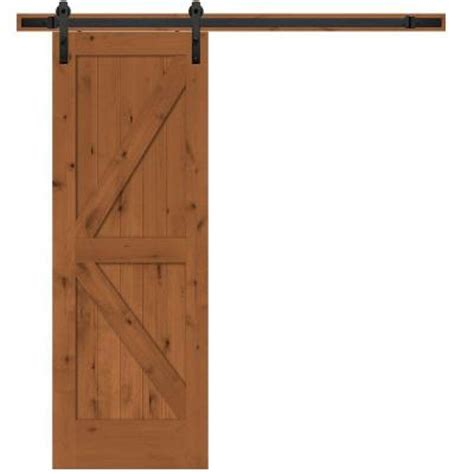 barn door home depot steves sons 30 in x 84 in rustic 2 panel stained