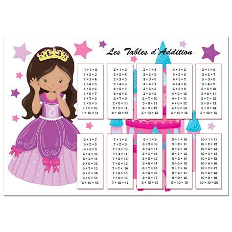 1000 id 233 es 224 propos de tables d addition sur
