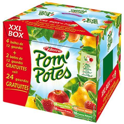 compotes materne pom potes multivarietes 48x90g tous les produits compotes prixing