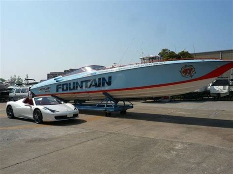 Used Fountain Boats by Fountain Powerboats 47 Lightning Stern Drive Used Boat In