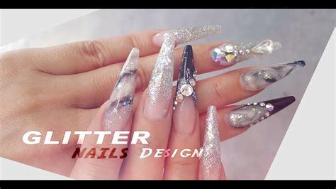 Acrylic Glitter Nails Designs