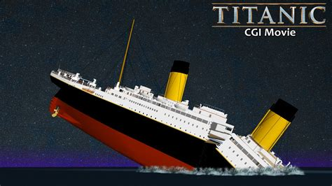 Titanic Sinking Animation 3d by Titanic 3d Animation Extended Version 2015