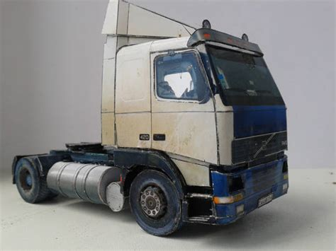 Volvo Fh12 Truck Free Vehicle Paper Model Download