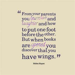 Picture » Helen Hayes quote about parent.