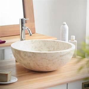 Waschbecken Arbeitsplatte Bad : waschbecken aus marmor ibyza cream bad pinterest waschbecken marmor und g ste wc ~ Markanthonyermac.com Haus und Dekorationen