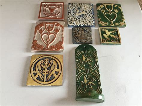 just added lot of moravian pottery and tile works tiles