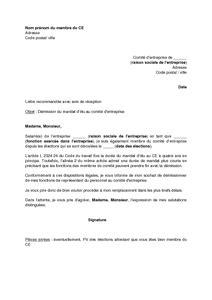 exemple de lettre de d 233 mission d un syndicat covering letter exle