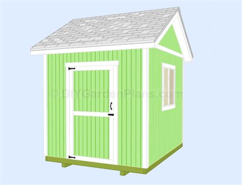 image 8x10 gable shed plans
