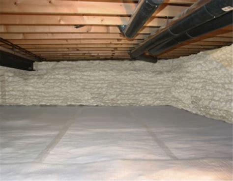 insulating dirt floor crawl space basement