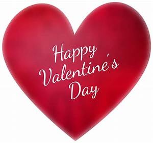 Happy Valentine's Day Deco Heart Transparent PNG Clip Art ...