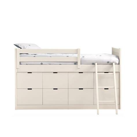 lit enfants juniors avec 8 tiroirs de rangement liso block par asoral