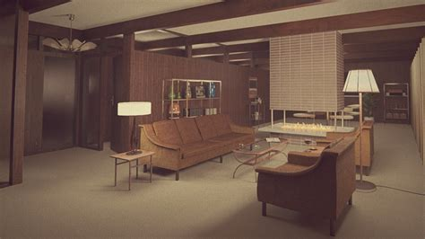 Sixties Living Room : 1960s Living Room By Erkucrunk On Deviantart
